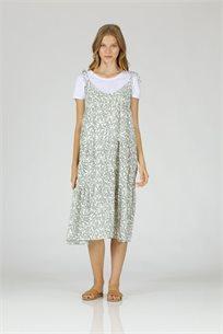 שמלה פלורי -ירוק