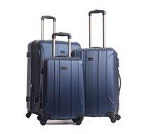 """שלישיית מזוודות קשיחות בגדלים """"20 """"24 """"28 במגוון צבעים לבחירה"""
