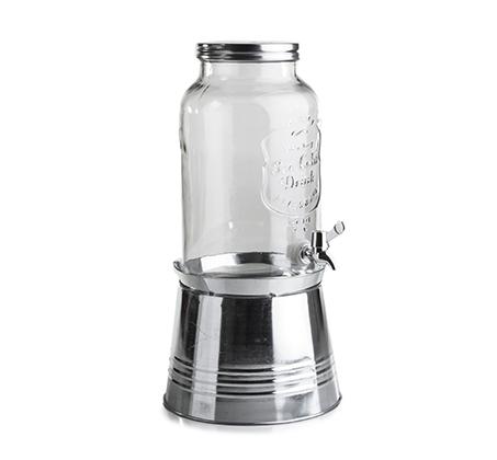 קנקן שתיה 5.5 ליטר כולל ברז וסטנד מתכת alex liddy