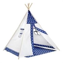 אוהל טיפי מעוצב לילדים - כוכבים כחולים