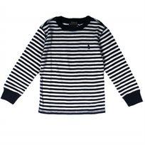 RALPH LAUREN / ראלף לורן (4 שנים) חולצת פיקה פסים - כחול לבן