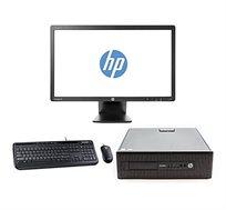 """מחשב נייח HP מעבד i5 זיכרון 16GB אחסון 240GB SSD+2TB HDD  מחודש מסך """"19+ מקלדת ועכבר אלחוטי מתנה"""