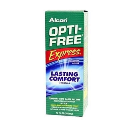 מארז שלישיית תמיסות Opti Free Express כולל מחסניות לעדשות Alcon מכיל 355 מ