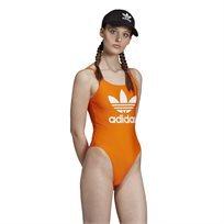 בגד גוף לנשים אדידס - Trefoil Swimsuit כתום