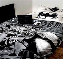 סט מצעי כותנה לילדים באטמן בפעולה במגוון מידות לבחירה ורדינון