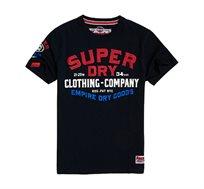 טי שירט Superdry Flagship לגברים בצבע כחול נייבי