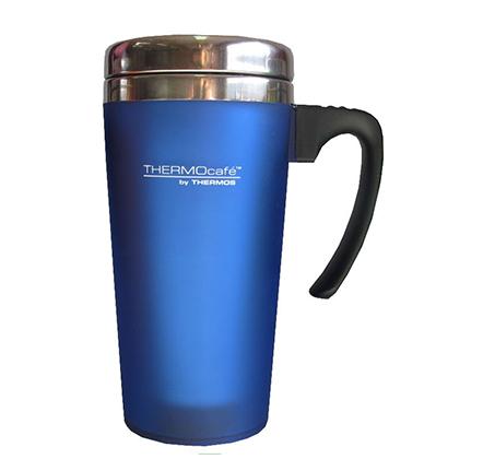 כוס תרמית מנירוסטה בשילוב פלסטיק בנפח 0.42 ליטר המיועדת לשתייה חמה או קרה Thermos - תמונה 3