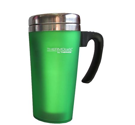 כוס תרמית מנירוסטה בשילוב פלסטיק בנפח 0.42 ליטר המיועדת לשתייה חמה או קרה Thermos - תמונה 5