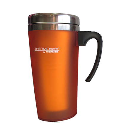 כוס תרמית מנירוסטה בשילוב פלסטיק בנפח 0.42 ליטר המיועדת לשתייה חמה או קרה Thermos - תמונה 2