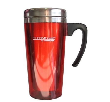 כוס תרמית מנירוסטה בשילוב פלסטיק בנפח 0.42 ליטר המיועדת לשתייה חמה או קרה Thermos - תמונה 4