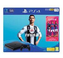 קונסולה פלייסטיישן 4 דגם SLIM בנפח 1TB כולל FIFA 19  יבואן רשמי