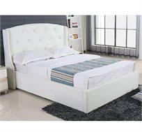 מיטה זוגית בריפוד דמוי עור VITORIO DIVANI כולל אחסון למצעים דגם בריאנה