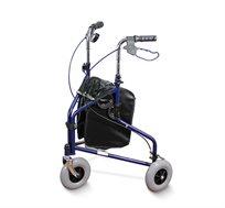 רולטור אלומיניום עם 3 גלגלים גדולים ובלמי עצירה בצבעים לבחירה