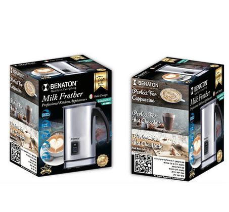 מקציף חלב מקצועי חשמלי איכותי BENATON לפי טכנולוגיה איטלקית - תמונה 2