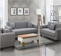 מערכת ישיבה לסלון נפתחת למיטה מבד דגם פירנצה LEONARDO