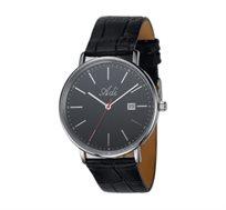 שעון יד מבית המותג ADI - מעוצב בשילוב פלדת אל חלד ועם רצועת עור אמיתית