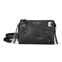 Guess נשים // Lizzy Crossbody Top Zip Black