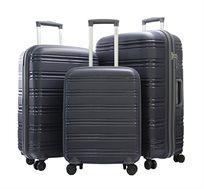 סט 3 מזוודות Swiss Voyager Cambridge קשיחות ועמידות עשויות מחומר איכותי במגוון צבעים לבחירה