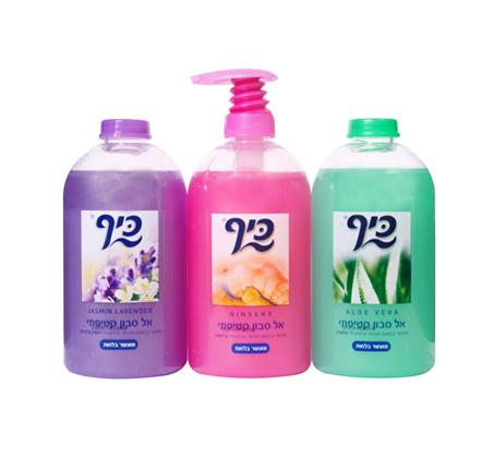 3 מארזי שלישיות אל סבון קטיפתי כיף - 9 יחידות