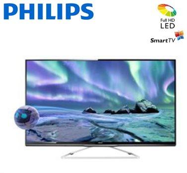 """טלוויזיה LED בגודל """"50 PHILIPS תלת מימד 3D"""