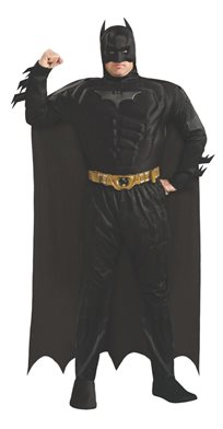 באטמן שחור שרירי דלוקס מידה Plus