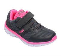 נעלי ספורט לילדים FILA דגם Mayte בצבעי אפור כהה וורוד נאון