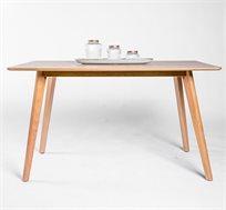שולחן עץ מלבני לפינת אוכל בעיצוב מודרני ועכשווי