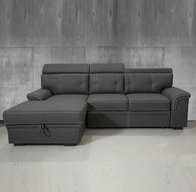 ספה פינתית נפתחת למיטה עם ארגז מצעים דגם אנג'ל