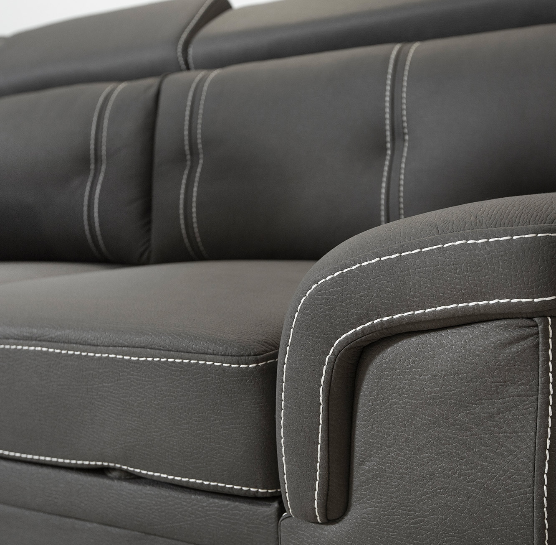 ספה פינתית תלת מושבית מרופדת בצבע אפור הנפתחת למיטה דגם אנג'ל VITORIO DIVANI - תמונה 5