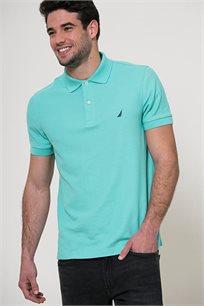 חולצת פולו לגברים - טורקיז