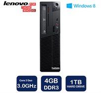 מחשב נייח Lenovo דגם M70 עם מעבד Core2Duo במהירות 3.0GHz, זיכרון 4GB, דיסק קשיח 1TB ו-WIN7 PRO