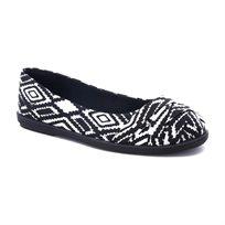 Blowfish Glo - נעלי בובה עם הדפס שחור לבן