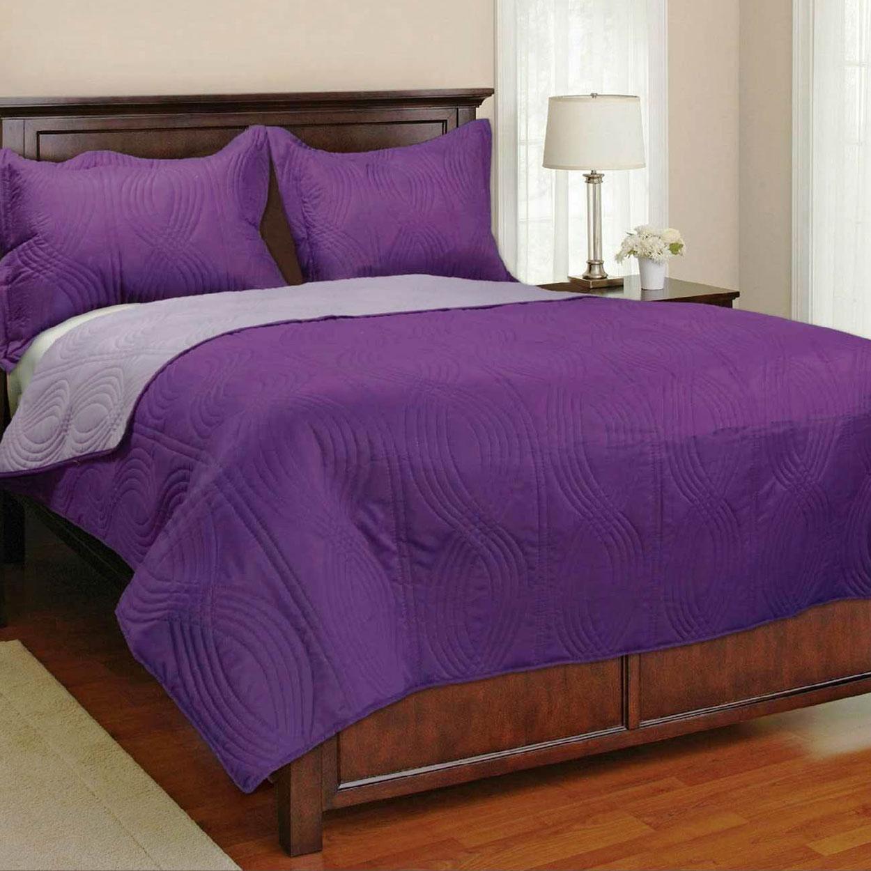 כיסוי מיטה גדול דו צדדי ב-4 גוונים לבחירה