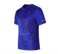 טי שירט ריצה מקצועי NEW BALANCE לגבר בצבע כחול