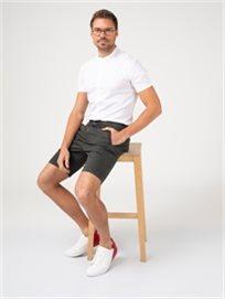 חולצת אריג עם צווארון סיני