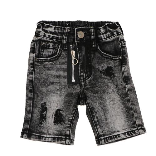 Oro ג'ינס(12 חודשים -16 שנים) - ברמודה פאטצ' רוכסן שחור בהיר