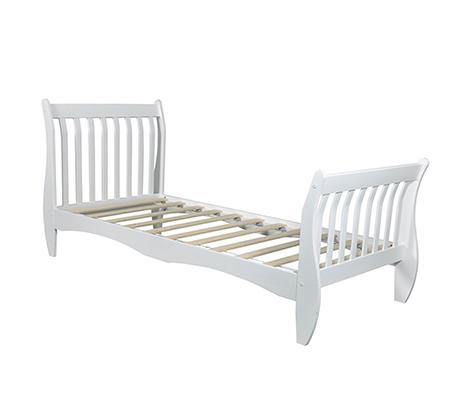 מיטת יחיד לילדים ונוער מעוצבת עשויה מעץ מלא עם משענת ראש גבוהה דגם KODA - תמונה 3