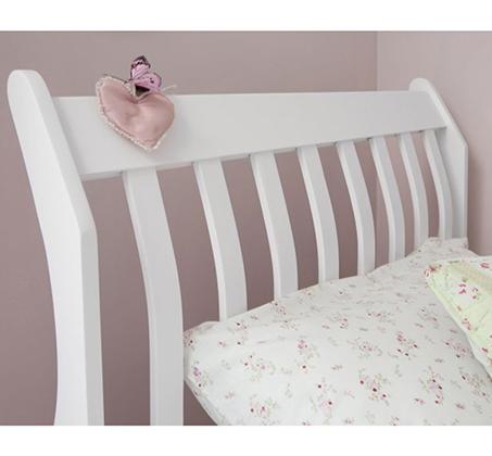 מיטת יחיד לילדים ונוער מעוצבת עשויה מעץ מלא עם משענת ראש גבוהה דגם KODA - תמונה 2