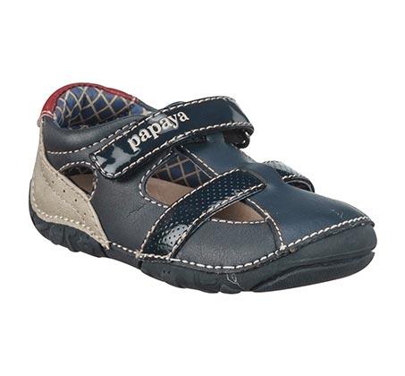 נעלי צעד ראשון סופטי לק לבנים - נייבי