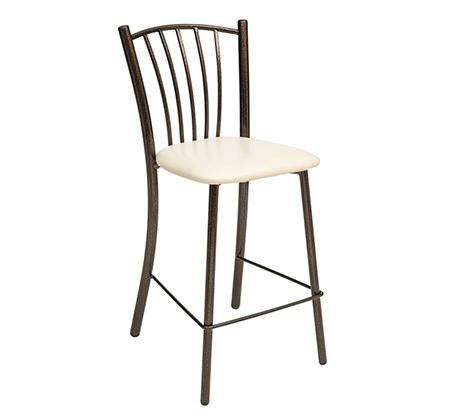 כסא בר גבוה למטבח בריפוד סקאי דגם רינה במבחר גוונים לבחירה