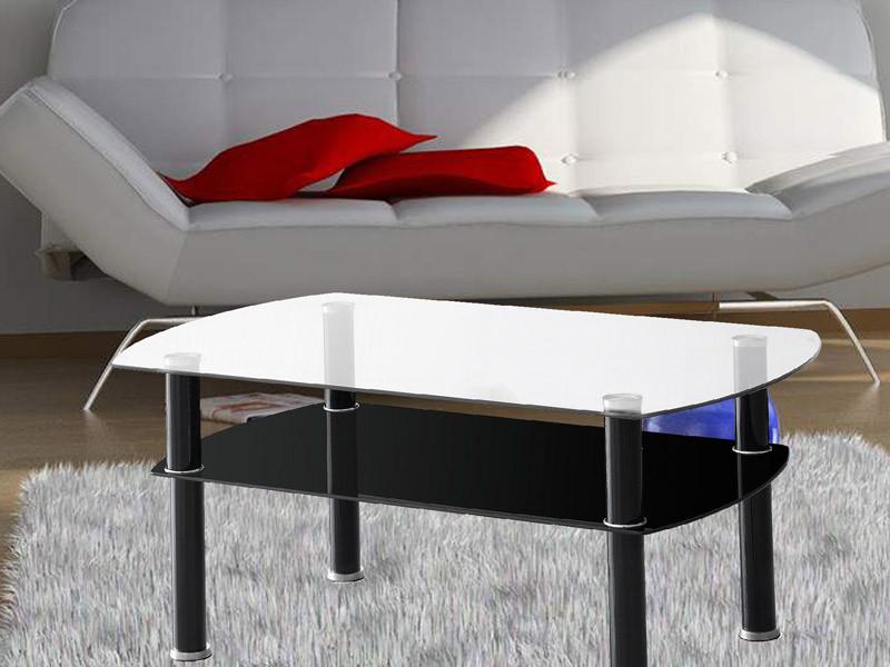 מודרני שולחן סלון עם זכוכית מחוסמת בעיצוב צעיר מדגם רומא מבית Homax KO-23