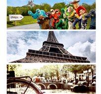 טיול מאורגן למשפחות בין פריז ואמסטרדם! 8 ימי סיור כולל כניסה ליורודיסני ואפטלינג החל מ-€929* לאדם!