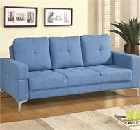 ספה תלת מושבית הנפתחת למיטה מבד פשתן