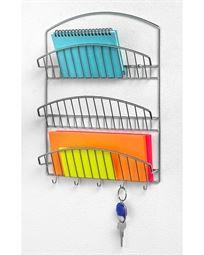 ארגונית מכתבים ומפתחות 3 שורות - Pantry Works - כרום