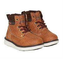 נעלים גבוהות BOY MID LACE SAN LUIS OVS לפעוטות עם הדפס ותפרים - חום
