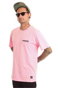 חולצת טי לגברים SUPPLY בצבע ורוד