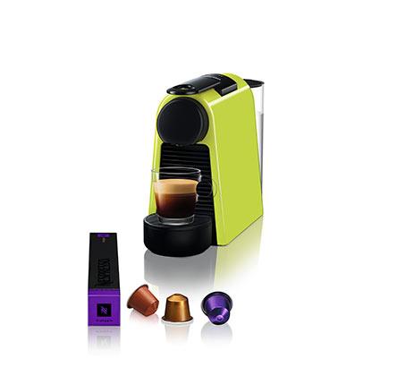 מכונת קפה NESPRESSO  אסנזה מיני בצבע ירוק דגם D30 כולל מקציף חלב ארוצ'ינו - משלוח חינם - תמונה 2