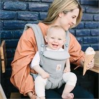 מנשא לתינוק הכל באחד מגיל לידה אומני 360 Omni - אפור Pearl Grey