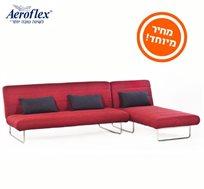 לזמן מוגבל! ספה פינתית הנפתחת למיטת אירוח דגם ANDREA מבית Aeroflex