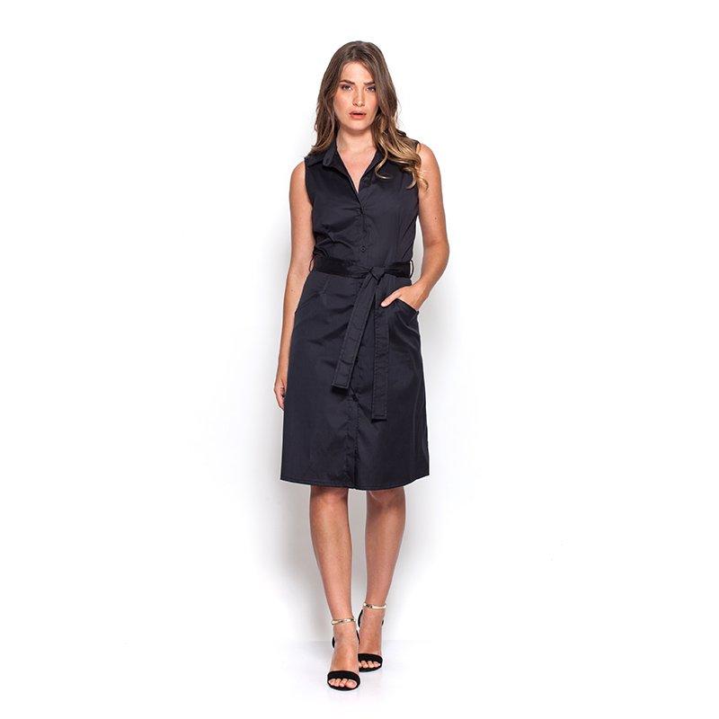 שמלת  פרסיליה שחורה עם חגורה